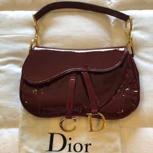 Christian Dior Rouge Monogram saddle Bag